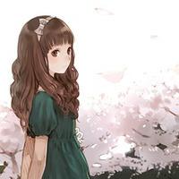 女生头像 卡通头像 伤感樱花日系卡通女孩头像图片