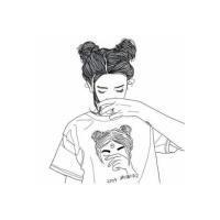 素描卡通女生QQ头像_www.qqtu8.net